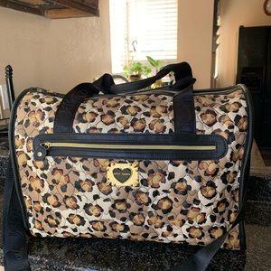 Betsey Johnson Leopard duffle weekender Bag